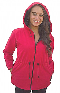 Ladies Windproof Waterproof Hooded Jacket - The Ultimate Barn Coat! (Black, Red, Turquoise, Tan, Plum) Xs - 4x