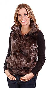 Andrea Faye Victoria Adult Boa Cinchback Vest (XS-2X)