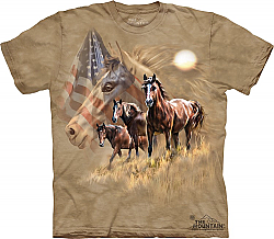 Patriot Horse Shirt Brown