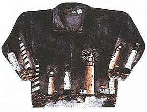 Lighthouse Plush Fleece Jacket Adult (XS - 5X)