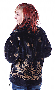 Twilight Snowflakes Microplush Fleece Jacket Adult (XS - 3X)