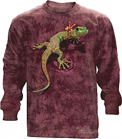 The Mountain Peace Out Gecko Long Sleeve Shirt (3X)