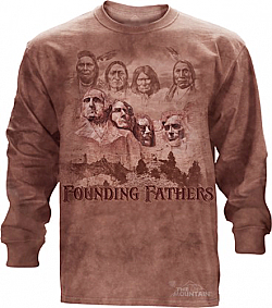 The Mountain The Founders Original Founding Fathers Native American Long Sleeve T-Shirt (Med - 3X)