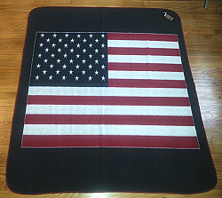 Clearance Sale USA American Flag Berber Fleece Throw / Blanket
