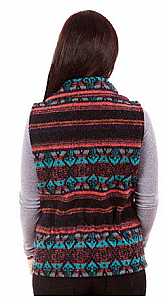 Fresno Southwest Looped Wool Fleece Cinchbach Vest