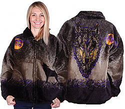 Phantom Wolf Plush Fleece Jacket Adult (MD)