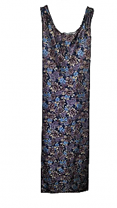 Blue Floral Sundress (Sm - 2X)