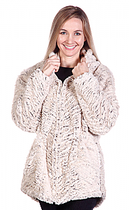 Andrea Faye Nicé Hooded Adult Boa Jacket (XS-4X)