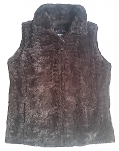 Andrea Faye Frankford Adult Boa Cinchback Vest (XS-2X)