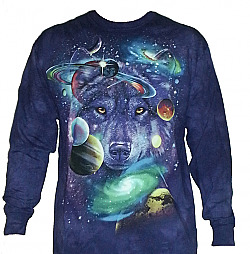 The Mountain Wolves of the Cosmos Long Sleeve Shirt (XL - 3X)
