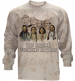 The Mountain The Originals Native American Sitting Bull Geronimo  Long Sleeve T-Shirt (Md, XL)