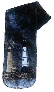 Lighthouse Plush Fleece Scarf