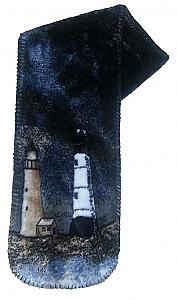 Lighthouse Plush Fleece Scarf