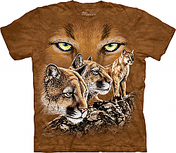 The Mountain Find 10 Cougars Puma Lion Adult T-Shirt (Sm, Md)