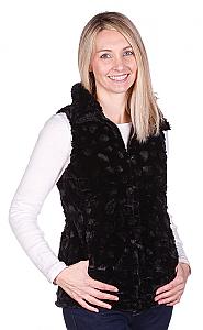 Andrea Faye Seville Adult Boa Cinchback Vest (XS-2X)