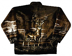 Whitetail Deer Plush Fleece Jacket Adult (XS - 2X)