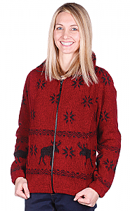 Red Moose Looped Wool Fleece Ladies Cinchbach Jacket