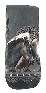 Pewter Horse Plush Fleece Scarf