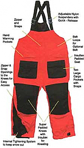 Arctic Armor Red Bibs (XXS - 5X)