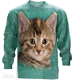 The Mountain Tyler The Kitten Long Sleeve Cat Face T-Shirt (Lg - 5X)