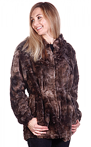 Andrea Faye Victoria Hooded Adult Boa Jacket (XS-4X)