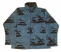 Clearance Wolf Mountain Microsuede Lined Fleece Jacket (Sm - XL)
