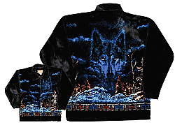 Mystic Wolves Plush Fleece Wolf Jacket Adult (XS - XL)