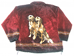 Golden Retriever Plush Fleece Jacket Adult  (XS- 2X)