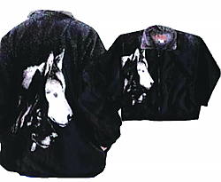Bear Ridge Outfitters The Watchers Plush Fleece Wolf Jacket Adult (XS - 2X)