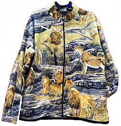 Reversible Polar Fleece Lion Jacket (SM - 2X)