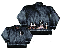 Bernese Mountain Dog Plush Fleece Jacket Adult (Sm - 2x)