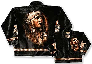 The Chief Plush Fleece Jacket Adult (Xs - 2X)