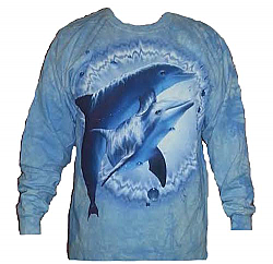 Clearance Sale The Mountain Dolphin Pair Long Sleeve Porpoise T-Shirt (2X)