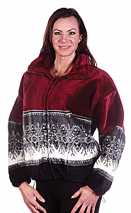 Arctic Snowflakes Microplush Fleece Jacket Adult (Xs - 2X)