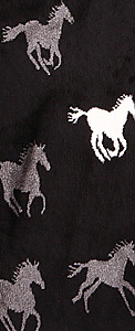 Running Black Horses Plush Fleece Scarf