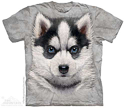 Siberian Husky Puppy Face Dog Tee Shirt  Adult Sm, Lg
