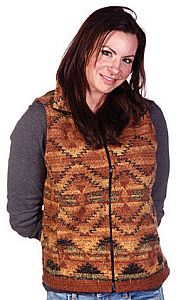 Corona Southwest Looped Wool Fleece Cinchbach Vest