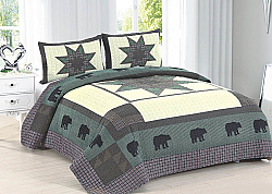 Bear Trail Quilt 3 piece Set (Queen, King)