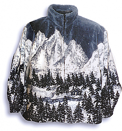 Black Mountain Cabin Fever Plush Fleece Jacket Adult (Med - 2x)