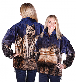 Frontier Wolves Plush Fleece Jacket Adult (2x)