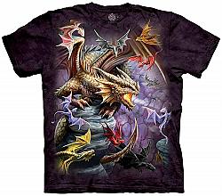 The Mountain Flight of Dragons Fantasy Clan Adult T-Shirt (SM - 4X)