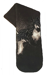 Mane Attraction Horse Plush Fleece Scarf Brown