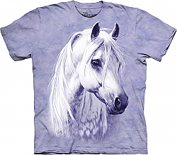 The Mountain Moonshadow Short Sleeve Arabian White Horse Adult T-Shirt (Sm - 3x)