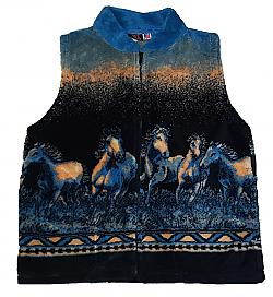 Wild Bunch Plush Fleece Horse Vest (MD)