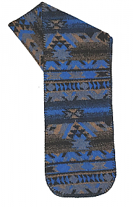 Lapis Southwestern Fleece Scarf Made USA