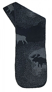 Clearance Moose Blue Fleece Scarf Made USA