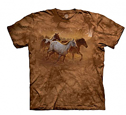 The Mountain Gold Run Horse T-Shirt (Sm - 3X)