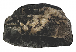 Gray Wolf Plush Fleece Hat