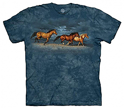 The Mountain Thunder Ridge Adult Horse T-Shirt by Chirs Cummings (Sm - 3X)