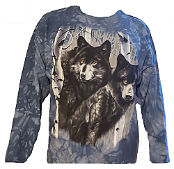 The Mountain Timberwolf Long Sleeve Wolf T-Shirt (3X)